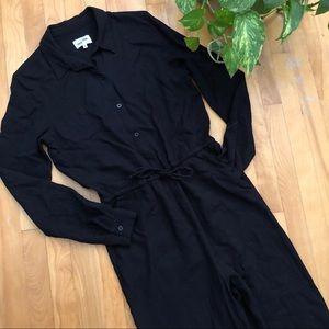 Frank & Oak Black Jumpsuit
